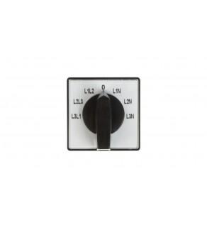 Przełącznik woltomierza 4P 10A do wbudowania 4G10-66-U 63-840360-011