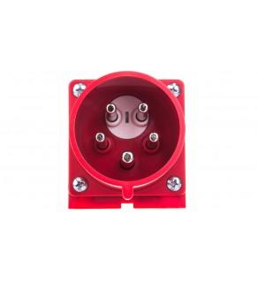Wtyczka odbiornikowa (zwrotnica faz) 32A 5P 400V czerwona IP44 7725-6