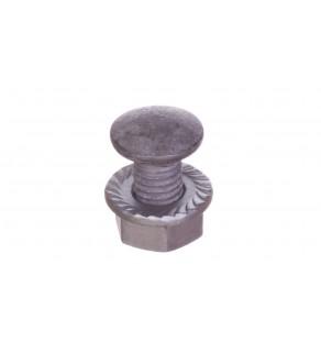 Śruba z łbem grzybkowym+nakrętka kolnierzowa ząbkowana (komplet) SGKF M8x14 /100szt.