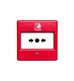 Ręczny Ostrzegacz Pożarowy (ROP), konwencjonalny, wewnętrzny, Satel ROP-100/PL