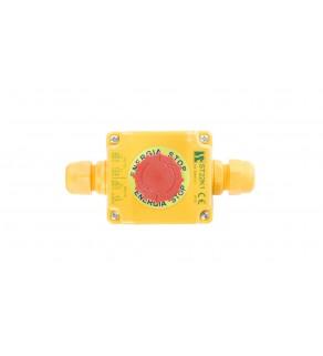 Kaseta z przyciskiem bezpieczeństwa przez obrót 1Z 1R IP65 ST22K108-2