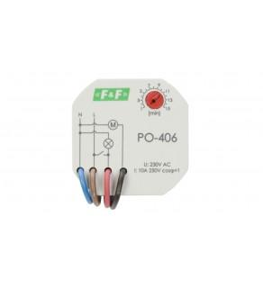 Przekaźnik czasowy 1Z 10A 1-15min 230V AC opóźnione odpadanie PO-406