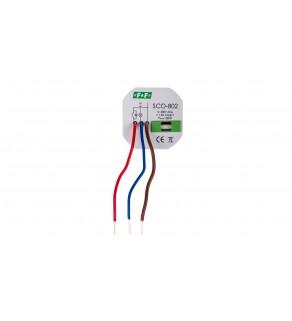 Ściemniacz przyciskowy z pamięcią 0-350VA szary SCO-802
