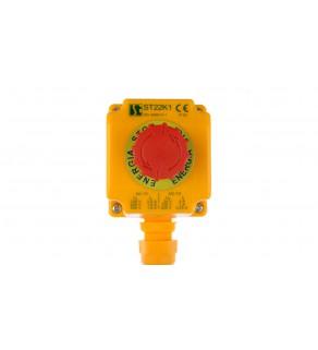 Kaseta z przyciskiem bezpieczeństwa przez obrót 1Z 1R IP65 ST22K108-1