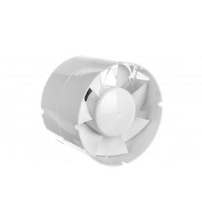 Wentylator kanałowy fi 125 230V 16W 190m3/h 38dB o przepływie mieszanym standard biały 125VKO1