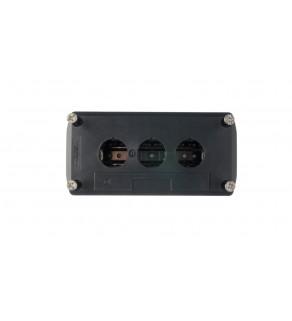 Obudowa kasety 3-otworowa 22mm szara IP65 XALD03