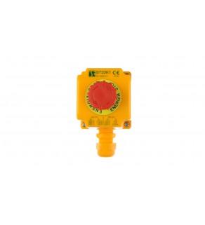 Kaseta z przyciskiem bezpieczeństwa przez obrót 1R IP65 ST22K105-1