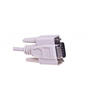 Kabel transmisyjny szeregowy RS232 Sub-D9 (M) - Sub-D9 (M) 10m beżowy