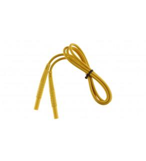 Przewód pomiarowy 1,2m żółty /wtyki bananowe/ WAPRZ1X2YEBB