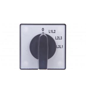 Przełącznik woltomierza 3P 10A do wbudowania 4G10-67-U S1