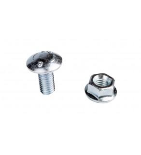 Śrubaz łbem grzybkowym + nakrętka kołnierzowa ząbkowana SGK M8X16 654041 /100szt.