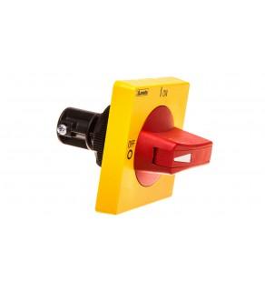 Napęd ręczny do przełączników żółto/czerwony zamknięcie na kłódkę UL508A GAX64