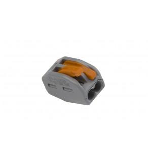 Szybkozłączka 2x 0,08-4mm2 z dźwigniami zwalniającymi jasnoszara 222-412 /50szt.