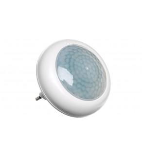 Lampka nocna wtykowa LED 0,5W z czujnikiem zmierzchowym biała PIR LX-LD-108P P3304