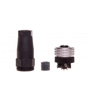 Złącze wtykowe żeńskie M12 4-pinowe proste XZCC12FDM40B