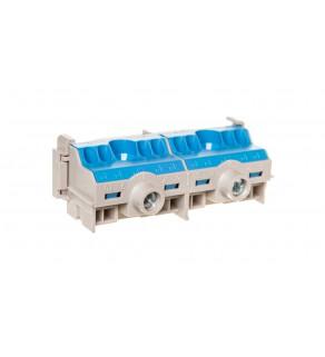 Listwa zaciskowa N na szynę 80A 2x25mm2 + 8x4 mm2 Cu niebiesko-szara FC N 10 26001204