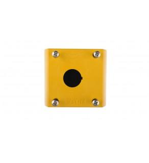 Obudowa kasety 1-otworowa 22mm żółta IP67 M22-IY1 216536