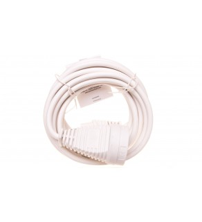 Kabel przedłużajacy (przedłużacz) 5m biały 1x230V H05VV-F3G1,5 1168444