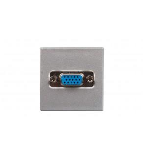 Simon Connect Gniazdo K45 video VGA /D-Sub15/ anodyzowane aluminium K100B/8