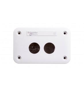 Obudowa kasety 2-otworowa 22mm szara IP54 XALE2