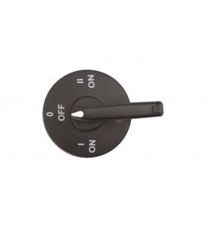 Pokrętło drzwiowe czarne I-0-II z blokadą PRP30W01