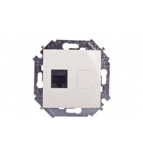 Simon 15 Gniazdo komputerowe pojedyncze RJ45 kat.5e beżowe 1591551-031