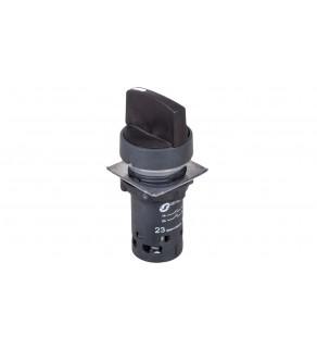 Przełącznik 3 położeniowy czarny 22mm 2Z bez samopowrotu XB7ND33