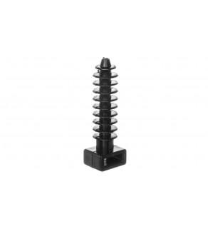 Podstawka montażowa do opasek zaciskowych czarna PMW-8-45-UV 25.245 /100szt.