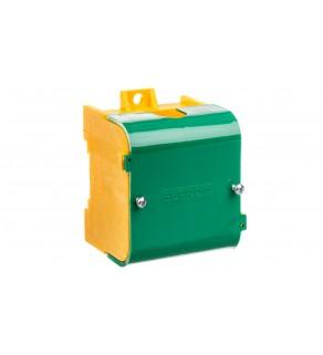 Odgałęźnik instalacyjny 1-segmentowy (zacisk: 1x95mm2 - 4x35mm2)/ z pokrywą żółto-zielony LZ 1*95/35P 84063009