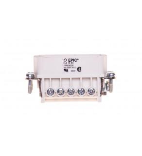 Wkład złącza 10P+PE męski 16A 250V EPIC H-A 10 SS 10440000