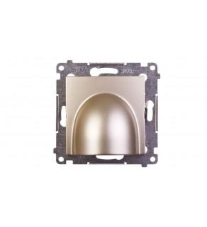 Simon 54 przyłącze kablowe złoty mat średnica przyłączanego przewodu 6,2–14,5 mm DPK1.01/44