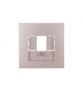 Berker B.1/B.3/B.7 Glas Element centralny do gniazda TAE i głośnikowego aluminium 10331404