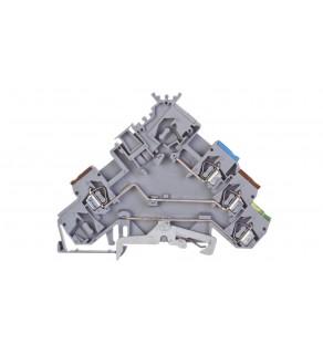 Złączka szynowa do elementów wykonawczych z PE 2,5mm2 szara 280-572