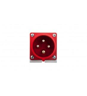 Wtyczka odbiornikowa 32A 4P 400V czerwona IP44 524-6