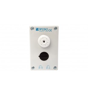 Obudowa kasety 2-otworowa 22mm szara IP65 SP22K200