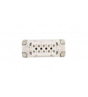 Wkład złącza 10P+PE żeński 16A 250V EPIC H-A 10 BS 10441100