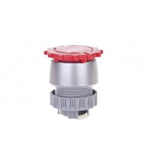 Napęd przycisku grzybkowego czerwony przez obrót SP22-B.