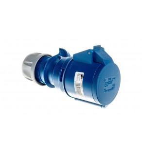 Gniazdo przenośne 32A 3P 230V niebieskie IP44 SHARK 223-6