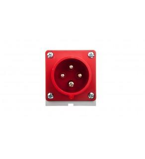 Wtyczka odbiornikowa 16A 4P 400V czerwona IP44 514-6