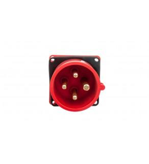 Wtyczka tablicowa 16A 4P 400V czerwona IP44 614-6f3