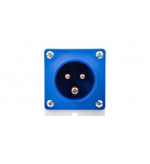 Wtyczka odbiornikowa 16A 3P 230V niebieska IP44 513-6