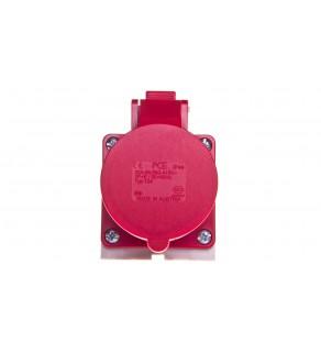 Gniazdo stałe 32A 4P 400V czerwone IP44 /mała obudowa/ 124-6k
