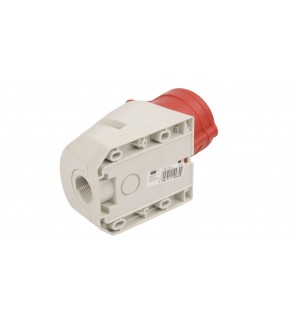 Gniazdo stałe 32A 4P 400V czerwone IP44 124-6