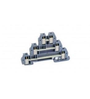 Złączka 3 piętrowa 2,5mm2 szara /euro ZUG/ 43504