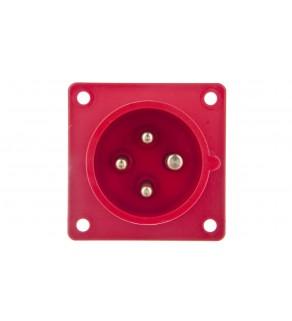 Wtyczka tablicowa 16A 4P 400V czerwona IP44 614-6
