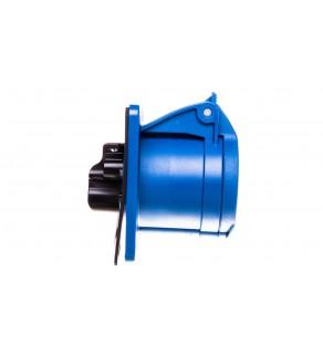 Gniazdo tablicowe 16A 3P 230V /75x75/ niebieskie IP44 TWIST 313-6f7