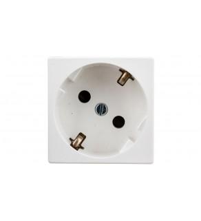 Simon Connect Gniazdo K45 pojedyncze SCHUKO z/u 16A IP20 z przesłoną torów czysta biel K01/9