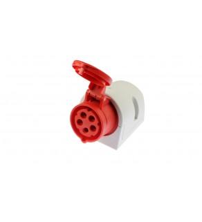 Gniazdo stałe 16A 5P 400V czerwone IP44 115-6