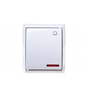 FALA Przycisk hermetyczny /dzwonek/ IP44 z podświetleniem biały ŁNH-6HS/00