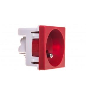 Simon Connect Gniazdo K45 pojedyncze z/u 16A IP20 czerwone K02